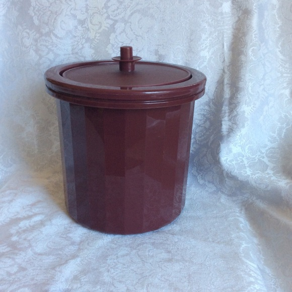 Vintage Tupperware Ice Bucket container 1980's EUC